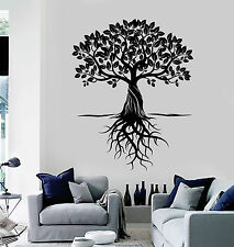 Vinyl Wall Decal Tree Roots Leaves Home Art Decor Stickers Murals (ig4763)