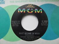 """EVERY MOTHERS SON No One Knows/What Became Of Mary USA 7"""" EX Cond"""