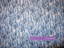 James Meger Silent Flight Pine Tree Forest Blue Cotton Fabric BY THE HALF YARD