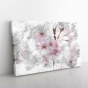 A Pretty Pink Cherry Blossom Tree in Abstract Canvas Print Wall Art Picture