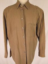 Ermenegildo Zegna Mens Green Long Sleeve Shirt XXL