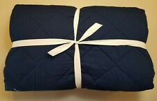 Pottery Barn Teen Finley Reversible Pinstripe Navy Blue Full Queen #4031