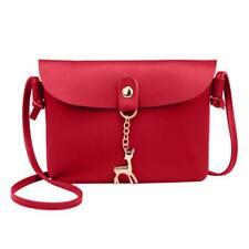 Women Shoulder Bag PU Leather Casual Pure Messenger Phone Handbag Satchel Purse