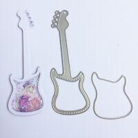 Stanzschablone Musik Gitarre Weihnachts Hochzeit Geburtstag Karte Album Deko DIY