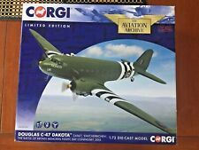 "CORGI LIMITED EDITION DOUGLAS C-47 DAKOTA ZA947 ""KWICHERBICHEN"",  AA38208  MINT"