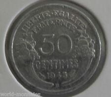 50 centimes morlon alu 1945 B : TTB : pièce de monnaie française