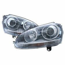 VW Golf Mk5 Hatchback 2003-6/2009 Performance Projector Headlights Lamps Black