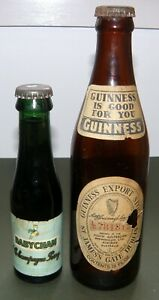 Two Old Bottles: Baby Cham + Guinness  c.1950