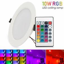 3/5/10W RGB LED Luz de Techo Lámpara empotrada en el panel Downlight Spot Accesorios + Control Remoto