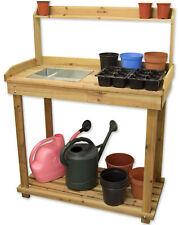 Woodside Wooden Potting/Planting Bench/Table Workshop Work Diy Station