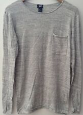 Men's Light Grey Mix Thin Jumper Round Neck Size S H&M<NH7442