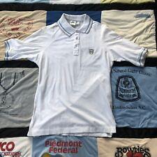 Men Vintage M Nike John McEnroe Checker Tag 80s Tennis Polo Shirt Rare Patch