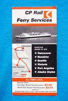 Canadian Pacific Rail Ferry Services Time Table - May 5 to Sept 30, 1972
