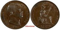 Great Britain William IV Copper 1835 Farthing XF Condition KM# 705 (17 319)