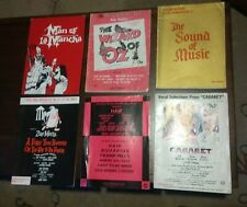 11 Vintage Song Books & Sheet Music, My Fair Lady, Wizard Of Oz Etc.