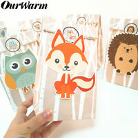 12Pcs Animals Candy Treat Gift Bags Woodland Jungle Theme Birthday Party Supply