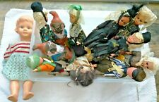 Lot Great Collection of 12 Real Vintage Dolls Souvenir and Costume