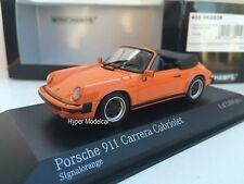 Minichamps 1/43 Porsche 911 Carrera Cabriolet 1983 Orange Art. 430062038