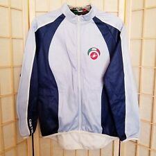 NWOT Castelli Women's Large Cycling Jacket Fleece Full Zip Blue Silver HTF