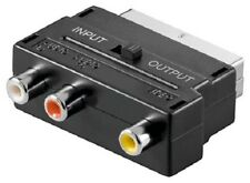 SCART Plug with/out Splitter > 3 x Cinch Socket