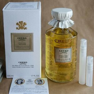 Creed Original Vetiver 10 ml Spray EDP Eau de Parfum Travel Size Spray Authentic