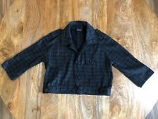 MAMBO BOLERO JACKET, SIZE 10, BLACK WITH GREY PLAID PATTERN, COTTON - NEVER WORN