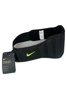 Nike Weight Lifting Training Belt 2.0 NEL02023 Size M Black Volt Structured New
