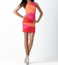 "BCBG Max Azria Dress Sz PS SP Pink Red Salmon ""Begonia Combo Debra"" Cocktail"