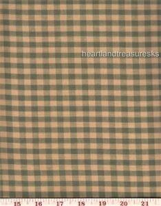 Dunroven House H-106SG  Homespun   Green ~ Wheat Checkered  Fabric ~ You Pick