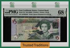 TT PK 47a 2008 EAST CARIBBEAN STATES 5 DOLLARS QUEEN ELIZABETH II PMG 68 EPQ!