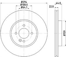 MINTEX FRONT DISC BRAKES PAIR MDC2083 FITS MINI R50, R53 R56 R55 R57 R52 R58 R59