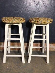 Pair Of Wooden Stools Kitchen Bar Stools