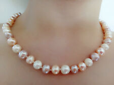 Collier de perles  naturelles d'eau douce 8-9mm melangees couleurs