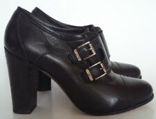 Lemare' Adamo Black Leather Round Toe Buckle Straps Italy Ankle Boots 39 UK-US 8
