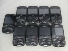 LOT OF 9 FAIR AT&T T-MOBILE BLACKBERRY CURVE 8520 QWERTY KEYPAD CLEAN IMEI/ESN