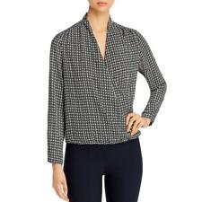AWARE by Vero Moda Womens Pattern V-Neck Blouse Wrap Top Shirt BHFO 6028