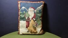 Santa Claus 17 x 12 Holiday Decorative Pillow