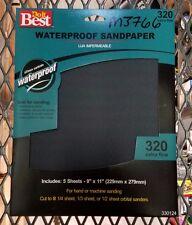 """Do it Best Waterproof Sandpaper, 320 Extra Fine, 9"""" X 11"""" (M3766-2*K)"""