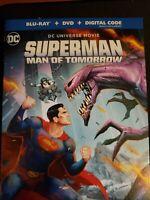 Superman: The Man Of Tomorrow Blu-Ray DVD & Digital Code 2-disc w/slipcover
