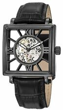Stuhrling 295 33551 Mens Automatic Skeleton Winchester Square Black Watch