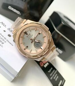 Casio Baby-G * G-MS MSGS200DG-4A Tough Solar Pink Gold Steel Watch for Women