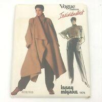 Vogue Individualist Issey Miyake 1476 size 10 Sewing Pattern Coat Shirt Pant PT2