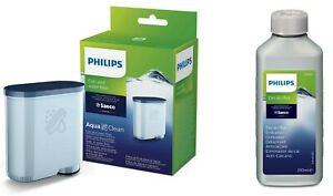 1 x SAECO Philips AquaClean + 1 x 250ml Saeco Entkalker Wartungs Kit