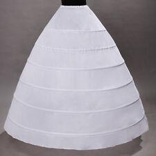 6-HOOP White Petticoat Wedding Gown Crinoline Petticoat Skirt Slip