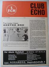 Programm 1. FC Nürnberg - Hertha BSC Berlin 5.10.1968 Bundesliga