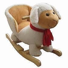 Plush Sheep Baby Rocking Chair Kids Toy Ride Rocker Plush Toddler
