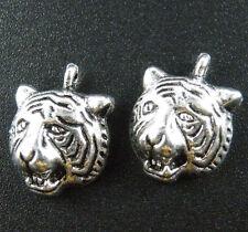 15pcs Tibetan Silver Tiger's Head Charms 18x13.5mm 1959