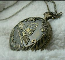 Necklace Classic Vintage Train Men women * Unusual gift for her him Pocket Watch