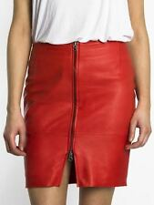 BNWT Religion Divide Leather Pencil Skirt in Red