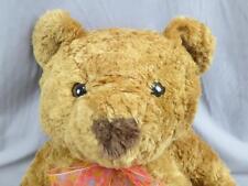 BIG JUMBO ANIMAL ALLEY BROWN TEDDY BEAR POLKADOT PINK BOW  PLUSH STUFFED ANIMAL